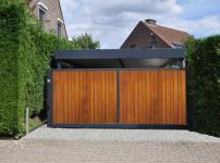 Aluminium poorten - Alu Frame+Hout