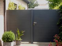 Aluminium poorten - ARUM HOR enkele poort en vast hek