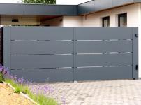 Aluminium poorten - MODEL 400 STRAK DP OPEN